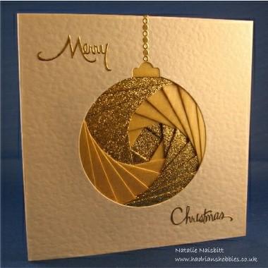 iris folded xmas card - Folded Christmas Cards