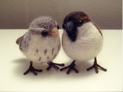 needlefelted birds