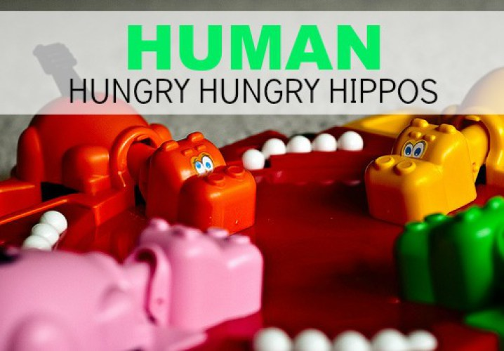 hungry human hippos game
