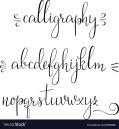 calligraphy-cursive-font-vector-6553868