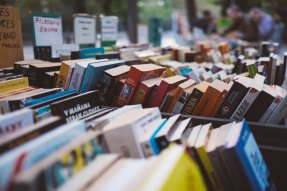 books at a book sale