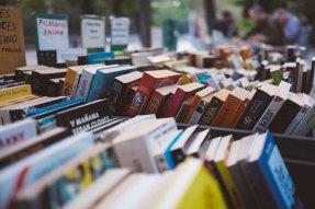 books at a book sale